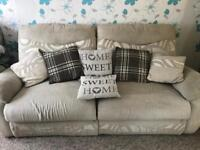 3 seater reclining sofa + chair