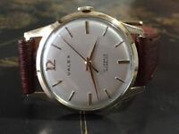 Vintage 9k 9ct solid gold Valdex men's watch