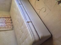 Single divan bed with sprung pocket mattress in good condition
