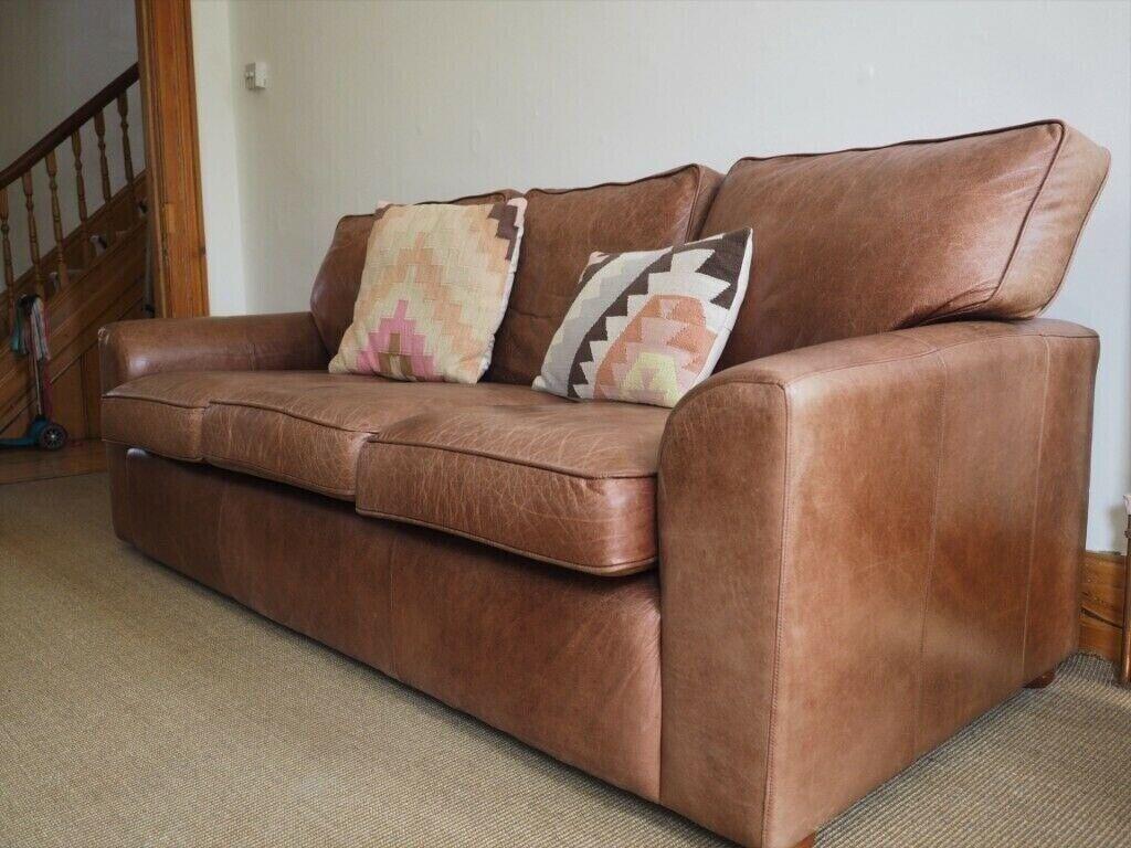 Brown Leather Sofa 3 5 Seats Darlings