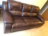 Leather 3 Seater Reclining Sofa