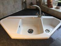 Ceramic Corner Kitchen Sink (BNIB)