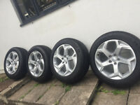 4 X RANGE ROVER SPORT 20 INCH ALLOY WHEELS/TYRES, (STYLE 5084) AS NEW