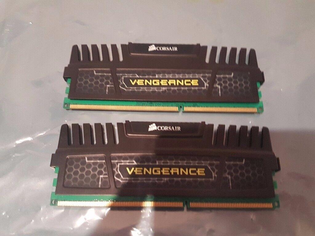 Corsair Memory Vengeance Black 8GB (2x4GB) DDR3 1600
