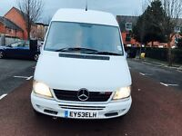 MERCEDES SPRINTER 311CDI 53 REG 160k MOT 6 MONTHS max base drives perfect all documents required
