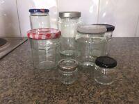 Miscellaneous Glass Jars