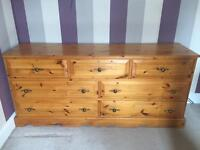 Solid pine 7 drawers