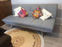 Argos Home Nolan 3 Seater Fabric Sofa Bed Light Grey