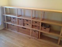 Solid larch wooden shelving units - ikea. Very good condition.