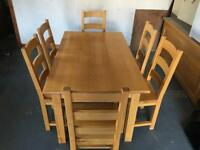 Solids Oak Dining Table & Chairs