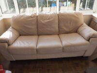 3 Piece Leather Sofa - good condition