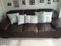 Brown leather sofa - great condition. £300!