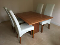Skovby Extendable Dining Table and 4 Chairs