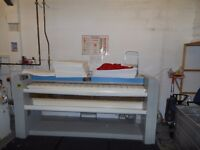 Electrolux commercial gas iron. 2.1 metre roller iron for flatwork. working order