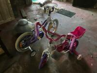 GONE PENDING COLLECTION: Little bike with stabilisers (age 3)