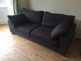 Next 3-seater sofa, charcoal linen twill