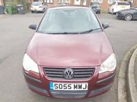 Volkswagen Polo1.2 E 3dr Petrol 2005 Manual Red Low mileage history.
