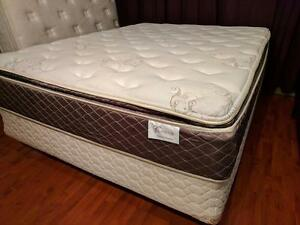 Queen Mattress Awesome Contour Pocket Coil Pillow Top Semi Firm - $240 (Metrotown - Includes Delivery)