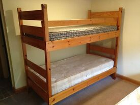 Solid Pine Wood Bunk Bed Bunkbed