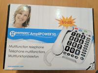 Geemarc Amplipower 50 telephone BNIB