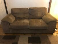 Comfortable 2 Seater Sofa - Dark Olive Green