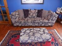 DFS Pair of sofas with footstool