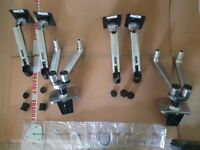 2x Ergotron Dual Gas Sprung, articulated monitor arms
