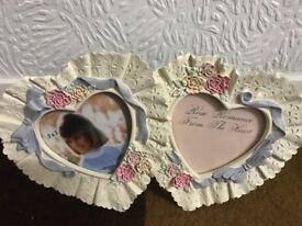 Ceramic picture frame