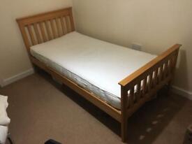 Single bed + Mattress + Mattress protector