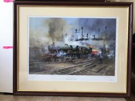 """Steam at Shrewsbury"" - Framed and Signed print 8 of 500 ""Browsholme Hall"" by David Westone"