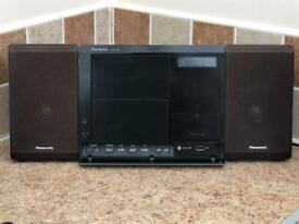 Panasonic SA-EN38DB Hi-Fi DAB Radio, CD Player, iPod Dock, MP3 in Black