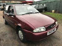 Ford Fiesta LX 1242cc Petrol 5 speed manual 3 door hatchback R Reg 24/04/1998 Red