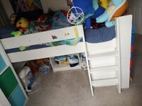 Steens Mid Sleeper with low bookcase
