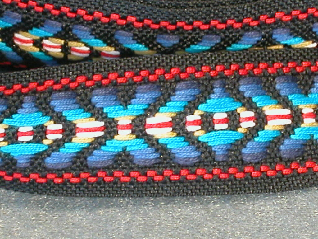 36 Yard Roll Of Embroidered Trim - Mostly Blue - 1 Wide - $8.50