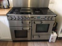 £350 Rangemaster 110 Professional Gas Cooker inc-Stainless steel Extractor and Splash-back