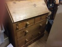 Antque Bureau Desk ,home office desk very good condition and complete , open to offers