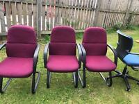 2 purple chairs remaining