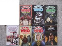 7 Doctor Who Target paperbacks - Deadly Assassin, Eden, Robot, Mandragora, Daleks, Face Of Evil