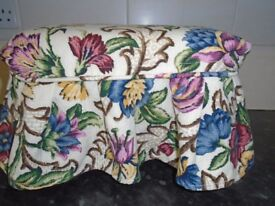 old wooden footstool