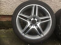 Mercedes 18 inch AMG Mint Diamond Cut Alloys. Fresh Refurbished, Not Been On Vehicle.
