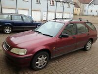Honda Civic aerodeck estate 1.5 petrol manual mot