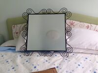 beautiful war mirror from IKEA suits every wall . 40 pounds size 50cm *50 cm