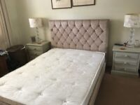 Double bed with unused mattress