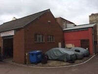 Workshop with 2-3 car spaces outside on secure industrial estate, Stonehouse.