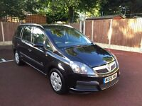 06 PLATE VAUXHALL ZAFIRA 7 SEATER 1.6 PETROL BLACK 91,000 MILES FULL HISTORY DRIVES SUPERB