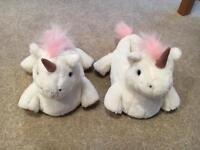 Unicorn Slippers. Size Medium