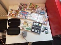 Nintendo DSI incl case, charger & 18 games bundle 025