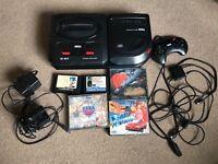 Sega Megadrive & mega cd 2 console & games