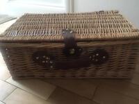 Brand new vintage tartan Picnic basket