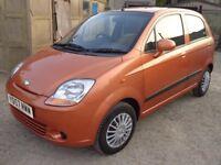 2007 Chevrolet Matiz 1.0 Petrol 5 Door Orange FSH Long MOT Low Miles Part Ex to Clear Cheap Bargain